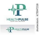 p health pulse letter logo... | Shutterstock .eps vector #675047218