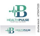 b health pulse letter logo... | Shutterstock .eps vector #675047320