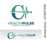 c health pulse letter logo... | Shutterstock .eps vector #675047350