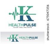k health pulse letter logo... | Shutterstock .eps vector #675047356