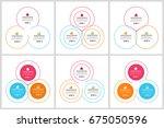 circles diagram  data elements... | Shutterstock .eps vector #675050596