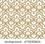 abstract pattern in arabian... | Shutterstock .eps vector #675050824