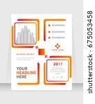 annual report  broshure  flyer  ... | Shutterstock .eps vector #675053458