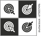 target   black and white vector ... | Shutterstock .eps vector #675057496