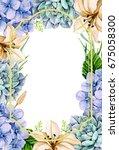 wedding invitation with water...   Shutterstock . vector #675058300