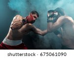Two Professional Boxer Boxing...