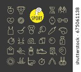 different sport icons vector... | Shutterstock .eps vector #675061138