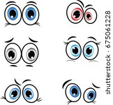 cartoon eyes in vector | Shutterstock .eps vector #675061228