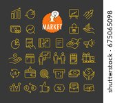 different marketing icons... | Shutterstock .eps vector #675065098