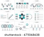 business data visualization.... | Shutterstock .eps vector #675068638