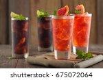 grapefruit lemonade and cola... | Shutterstock . vector #675072064