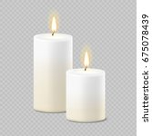 set of realistic vector white... | Shutterstock .eps vector #675078439