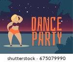 let's dance   vector... | Shutterstock .eps vector #675079990