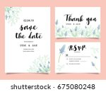 wedding invitation card... | Shutterstock .eps vector #675080248