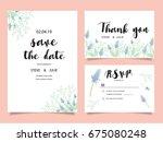 wedding invitation card... | Shutterstock .eps vector #675080248