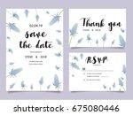 wedding invitation card...   Shutterstock .eps vector #675080446