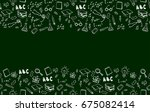 horizontal seamless border with ... | Shutterstock .eps vector #675082414
