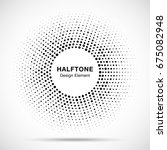 Halftone Circle Vector Frame...