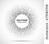 halftone circle vector frame... | Shutterstock .eps vector #675082948