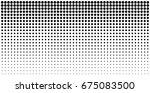 vertical gradient halftone dots ... | Shutterstock .eps vector #675083500