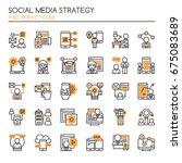 social media strategy elements  ... | Shutterstock .eps vector #675083689