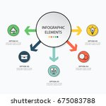 infographic design with icon... | Shutterstock .eps vector #675083788