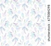 light seamless vector floral... | Shutterstock .eps vector #675084298