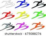 running icon | Shutterstock .eps vector #675088276