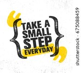 take a small step everyday.... | Shutterstock .eps vector #675088459