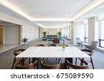 interior of modern meeting room   Shutterstock . vector #675089590