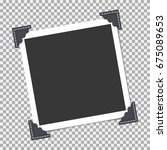 photo frame with angle  corner...   Shutterstock .eps vector #675089653