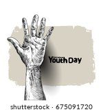 international youth day 12... | Shutterstock .eps vector #675091720