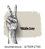 international youth day 12... | Shutterstock .eps vector #675091750
