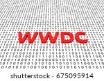 wwdc in the form of binary code ... | Shutterstock . vector #675095914