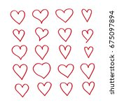 hand draw hearts icon | Shutterstock .eps vector #675097894