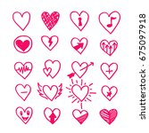 hand drawn hearts icon | Shutterstock .eps vector #675097918
