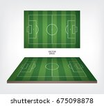 football field or soccer field... | Shutterstock .eps vector #675098878