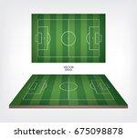 football field or soccer field... | Shutterstock .eps vector #675098878