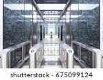 entrance corridor with... | Shutterstock . vector #675099124