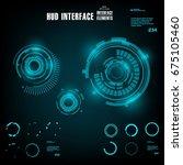 futuristic virtual graphic... | Shutterstock .eps vector #675105460