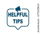 helpful tips | Shutterstock .eps vector #675105814