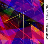 colored chaotic triangles....   Shutterstock .eps vector #675106780