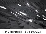 empty dark abstract concrete... | Shutterstock . vector #675107224