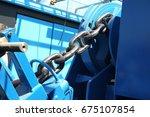Anchor Windlass With Chain On...
