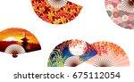 maple autumn leaf background | Shutterstock .eps vector #675112054