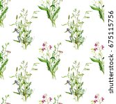 seamless pattern with...   Shutterstock . vector #675115756