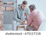 rebellious teenager talking...   Shutterstock . vector #675117118