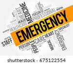 emergency word cloud collage ... | Shutterstock .eps vector #675122554