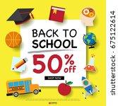 back to school design template... | Shutterstock .eps vector #675122614
