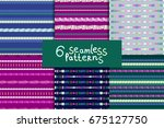 abstract colorful seamless... | Shutterstock .eps vector #675127750